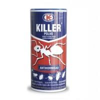 Killer Polvo Anti Hormigas, Espolvoreo Listo para el Uso, Elimina Insectos y Ácaros 100 Gr