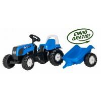 Tractor Infantil de Juguete a Pedales Landini con Remolque
