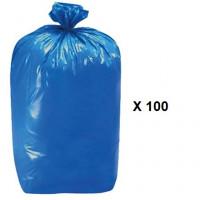 Bolsa 100 Sacos Color Azul para Vendimia 60 X 100 Cm