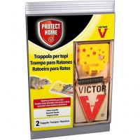 2 Trampas Protect HOME para Ratones de Alto Impacto y Olor Atrayente. Calidad Victor