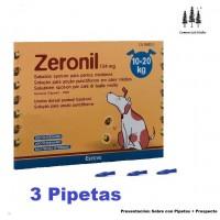 3 Pipetas Perros 10-20Kg Zeronil Pipeta Anti Pulgas y Garrapatas Spot On Pipette