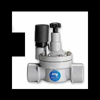 """Electroválvula PVC 1"""" 210-05B con Regulador de Caudal"""