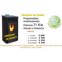 Estufa de Pellet  11 Kw