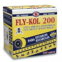 Fly-Kol Cinta Trampa Pegamento Doble Cara Anti Moscas, Granjas y Establos 200 M