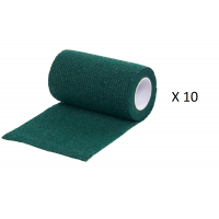 Pack Ahorro 10 Rollos de Vendaje Flexible para Animales Vet-Flex Color Verde