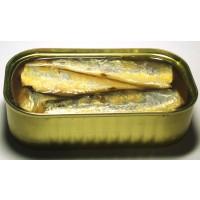 Sardinas Enlatadas en Aceite Vegetal en 125 Gr para la Ventas, Etc