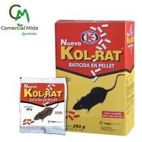 Kol-Rat 250g - Raticida en Pellet Veneno contra Ratas y Ratones