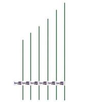 Tutor Acero Plastificado Diámetro 8 Mm / Alto 0,6 M Flower Hortup - 1 Ud