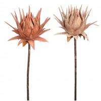 Vara Protea Gigante Artificial Vintage. Realista. Altura 94 Cm. Ø Flor (Cm): 25