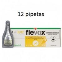 12 Pipetas 0,67 ML Flevox Anti Pulgas y Garra