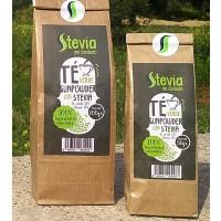 Té Verde Gunpowder con Stevia. sus Infusiones con Edulcorante 100% Natural. 50 Gr.