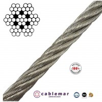 Cable de Acero Inoxidable AISI 316 de 6 Mm. 7X7+0