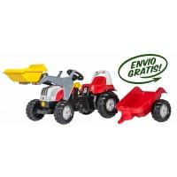 Tractor Infantil de Juguete a Pedales Steyr con Remolque y Pala