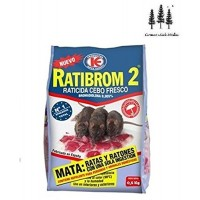 Cebo Fresco 500g Raticida Ratibrom 2 Veneno Ratas Ratones Resiste Calor Humedad