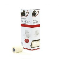 Pack Ahorro 10 Rollos de Vendaje Flexible para Animales Vet-Flex Color Blanco