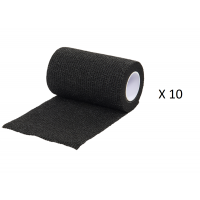 Pack Ahorro 10 Rollos de Vendaje Flexible para Animales Vet-Flex Color Negro