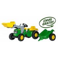 Tractor Infantil de Juguete a Pedales JOHN Deere con Remolque y Pala