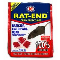 Cebo Fresco Raticida Rat-End Veneno contra Ratas y Ratones de Uso Doméstico 150 Gr