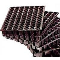 Pack de 5 Bandeja Semillero Plastico Negro. 84X5= 420 Alveolos
