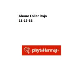 Abono Foliar Rojo 11 -15 -33 de Phytohermes