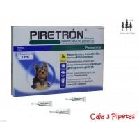 Caja 3 Pipetas Piretron (Perros-15 Kg) Pipeta