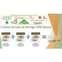 Oferta 3 Sobres de Sopa de Moringa (4 Raciones Cada Sobre)