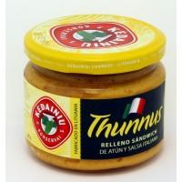 Snack con el Atún y la Salsa Italiana (Thunnus)