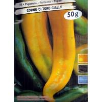 Pimiento Cuerno de Toro Amarillo. 50 Gr / 6.0
