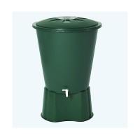Contenedor de Agua de Lluvia Redondo 210 Litros (Con Base y Filtro)