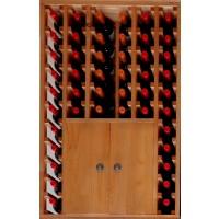 Botellero Pino Godello 46 Botellas + 2 Puertas Bajas