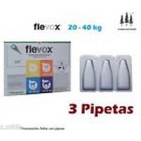 3 Pipetas Flevox 2,68Ml Pulgas Garrapatas Fipronilo Perro Pipette 20-40Kg Pipeta