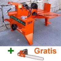 Rajadora de Leña 20 Ton Horizontal Tractor + Motosierra Gratis