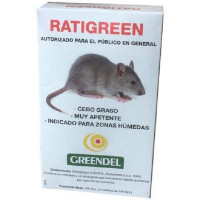 Raticida Bloque Ratigreen Control de Ratones y Ratas, 3 Bloques X 100 Gr