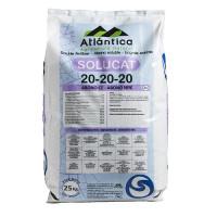 Abono Cristalino NPK Solucat 20-20-20, 25 Kg