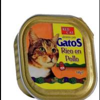 Bandeja de Paté RED CAT 100g Rico en Pollo pa