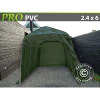 Carpa Garaje PRO 2,4X6X2,4 M PVC, Verde