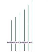 Tutor Acero Plastificado Diámetro 11 Mm / Alto 1,50 M Flower Hortup - 1 Ud
