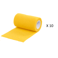 Pack Ahorro 10 Rollos de Vendaje Flexible para Animales Vet-Flex Color Amarillo
