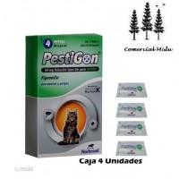 Caja 4 Pipetas Pestigon para Gatos Anti Pulgas y Garrapatas