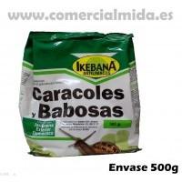 Molusquicida Ikebana 500g Anti Limacos Cebo para Controlar Caracoles y Babosas