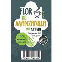 Flor de Manzanilla con Stevia. sus Infusiones con Edulcorante 100% Natural. 50 Gr.