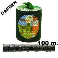 Manguera de Riego Exudante Poritex 100m por Presión (Malla Verde)