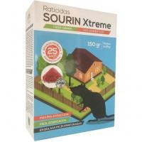 Raticida Sourin Xtreme Frap, Cebo en Cereal para Control de Roedores. Estuche 150 Gr (6 X 25 Gr)
