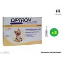 Caja 3 Pipetas Diptron Spot-On Perros 2-10 Kg