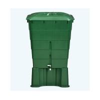 Contenedor de Agua de Lluvia Rectangular 203 Litros (Con Base y Filtro)