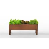 Mesa de Cultivo Parvus 40 Acero Corten | Huerto Urbano