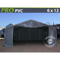 Carpa Grande de Almacén PRO 6X12X3,7M PVC, Gris