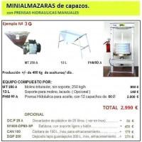 Equipo 3G:  para Elaboración de Aceite de Oliva.