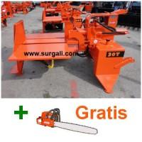 Rajadora de Leña 15 Ton Horizontal Tractor + Motosierra Gratis