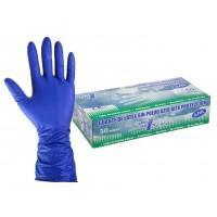 Caja 50 Guantes de Látex Sin Polvo Color Azul